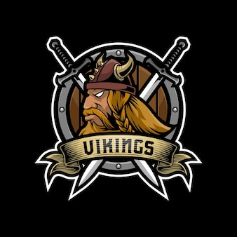 Design do logotipo do mascote dos vikings
