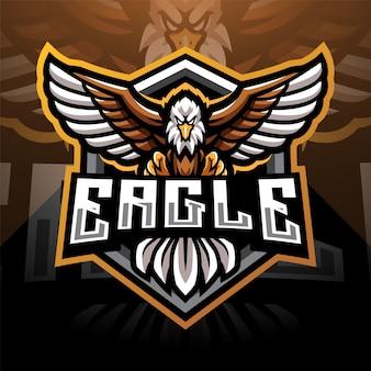 Design do logotipo do mascote eagle esport