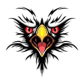 Design do logotipo do mascote eagle face esport