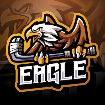 Design do logotipo do mascote eagle sport esport