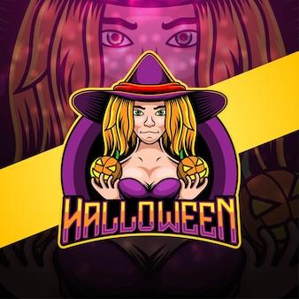 Design do logotipo do mascote esport de halloween