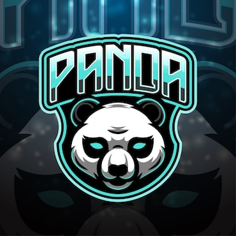 Design do logotipo do mascote esporte da panda