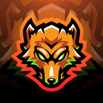 Design do logotipo do mascote esportivo da fox