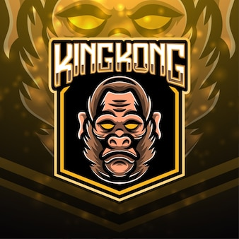 Design do logotipo do mascote esportivo king kong