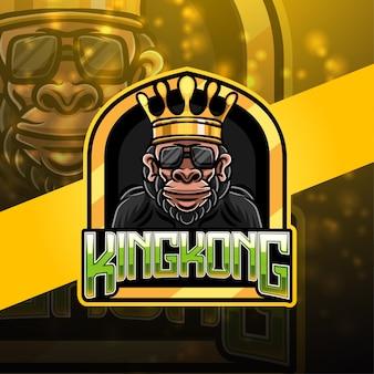 Design do logotipo do mascote esportivo king kong