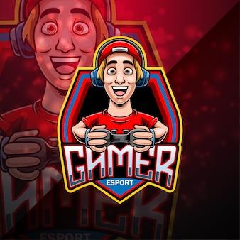 Design do logotipo do mascote gamer esport