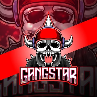 Design do logotipo do mascote gangstar esport