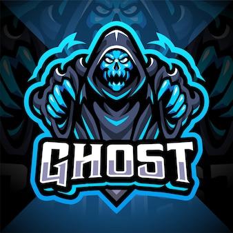 Design do logotipo do mascote ghost esport