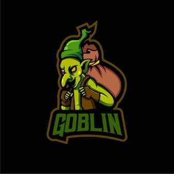 Design do logotipo do mascote goblin
