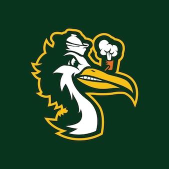 Design do logotipo do mascote ibis