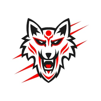 Design do logotipo do mascote kitsune