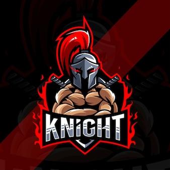 Design do logotipo do mascote knight