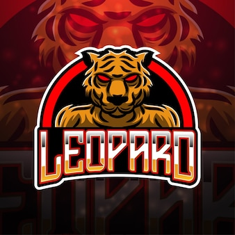 Design do logotipo do mascote leopard esport