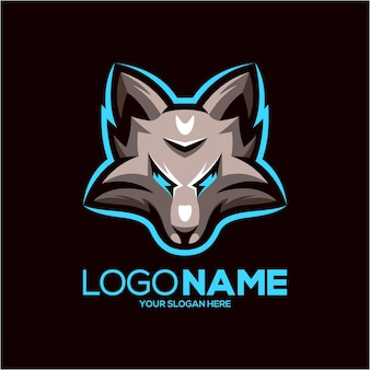 Design do logotipo do mascote lobo