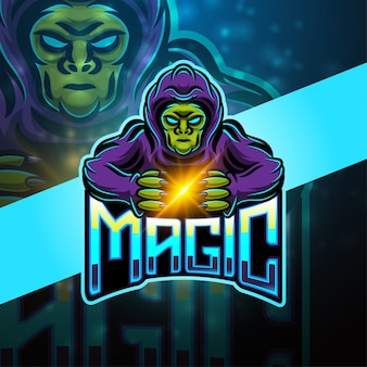 Design do logotipo do mascote magic esport