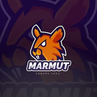 Design do logotipo do mascote marmut esport