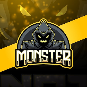 Design do logotipo do mascote monster esport