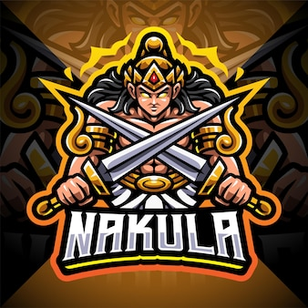 Design do logotipo do mascote nakula esport