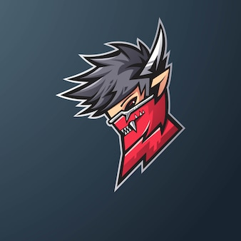 Design do logotipo do mascote ninja para games, esport, youtube, streamer e twitch
