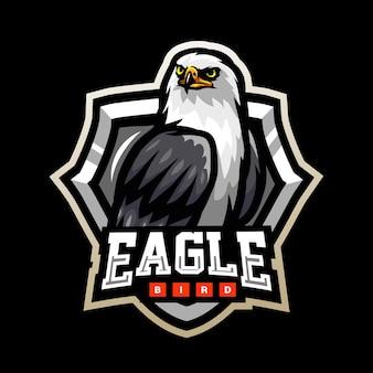 Design do logotipo do mascote pássaro águia