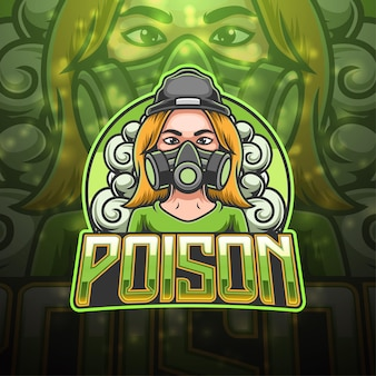 Design do logotipo do mascote poison esport