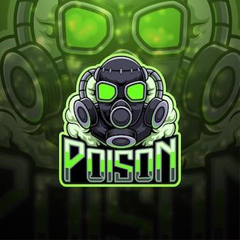 Design do logotipo do mascote poison esport