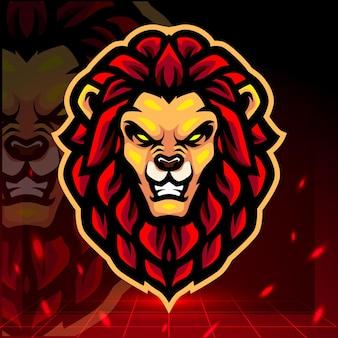 Design do logotipo do mascote principal do leão