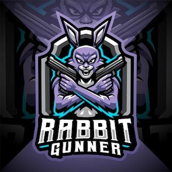 Design do logotipo do mascote rabbit esport