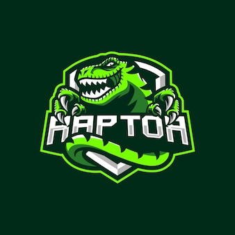 Design do logotipo do mascote raptor