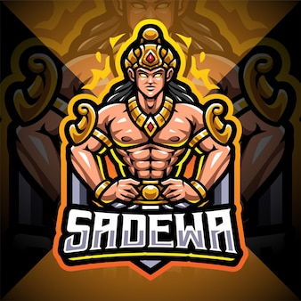 Design do logotipo do mascote sadewa esport
