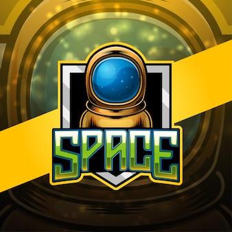 Design do logotipo do mascote space esport