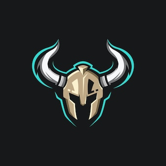 Design do logotipo do mascote warrior