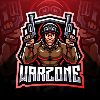 Design do logotipo do mascote warzone esport