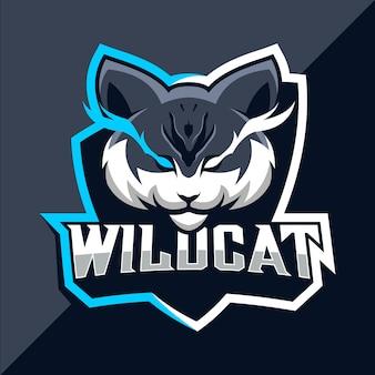 Design do logotipo do mascote wildcats