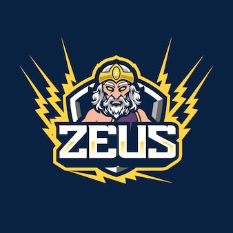 Design do logotipo do mascote zeus