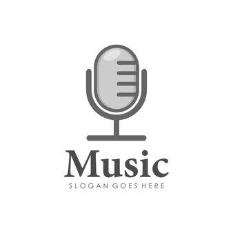 Design do logotipo do microfone