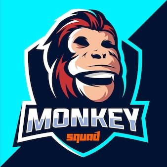 Design do logotipo do monkey squad esport