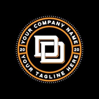 Design do logotipo do monograma dd