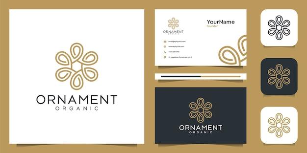 Design do logotipo do ornamento e cartão de visita
