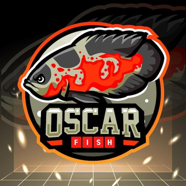 Design do logotipo do oscar fish mascote esport