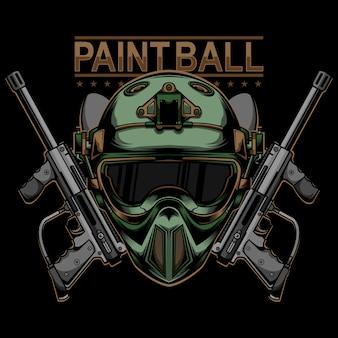 Design do logotipo do paintball