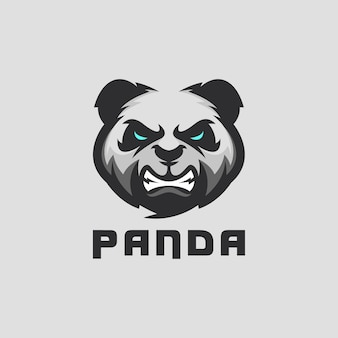 Design do logotipo do panda para equipe esportiva