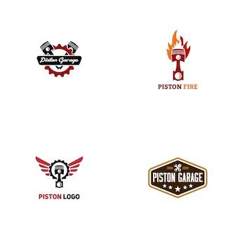 Design do logotipo do pistão
