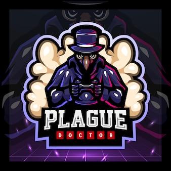 Design do logotipo do plague gaming mascote esport