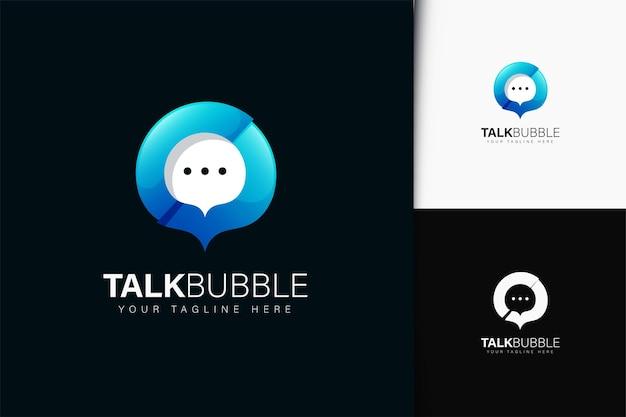 Design do logotipo do talk bubble com gradiente