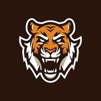 Design do logotipo do tigre mascote
