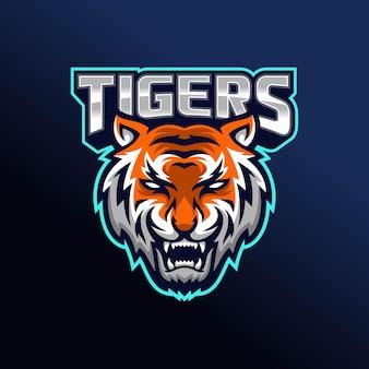Design do logotipo do tigre rujir