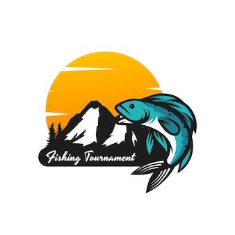 Design do logotipo do torneio de pesca