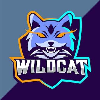 Design do logotipo do wildcats mascote esport