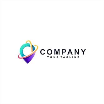 Design do logotipo gradiente de cores